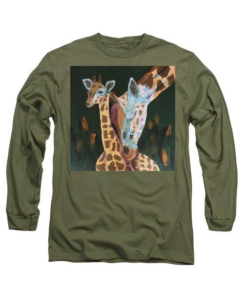 Giraffes Long Sleeve T-Shirt by Donald J Ryker III