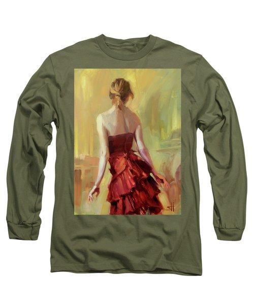 Girl In A Copper Dress I Long Sleeve T-Shirt