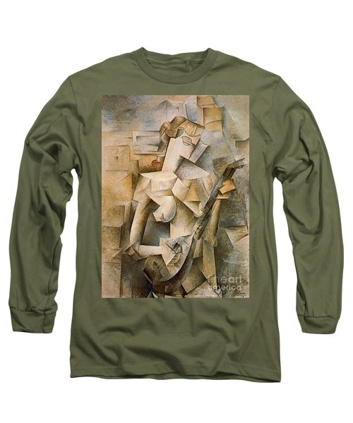 Girl With A Mandolin Long Sleeve T-Shirt by Picasso