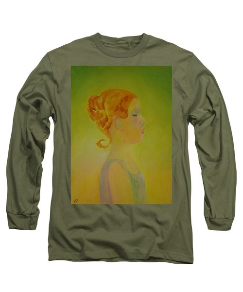 The Girl With The Curl Long Sleeve T-Shirt