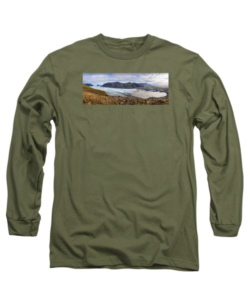 Long Sleeve T-Shirt featuring the photograph Glacier View by James Billings