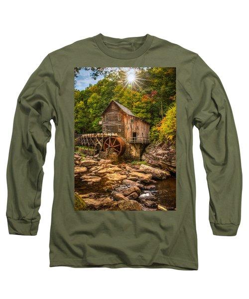 Glade Creek Mill Fall Long Sleeve T-Shirt by Rebecca Hiatt
