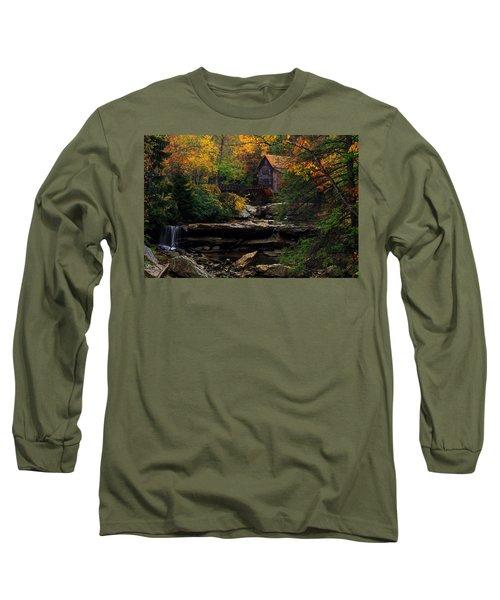 Glades Creek Grist Mill West Virginia Long Sleeve T-Shirt