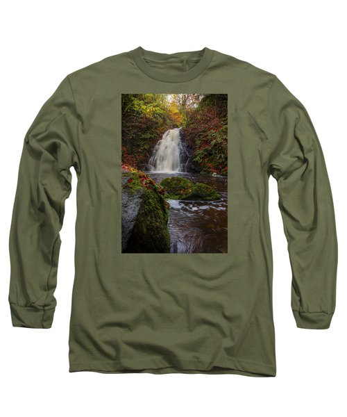 Gleno Falls Portrait View Long Sleeve T-Shirt