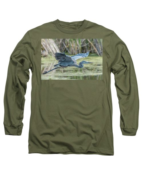 Gliding Over The Wetlands... Long Sleeve T-Shirt