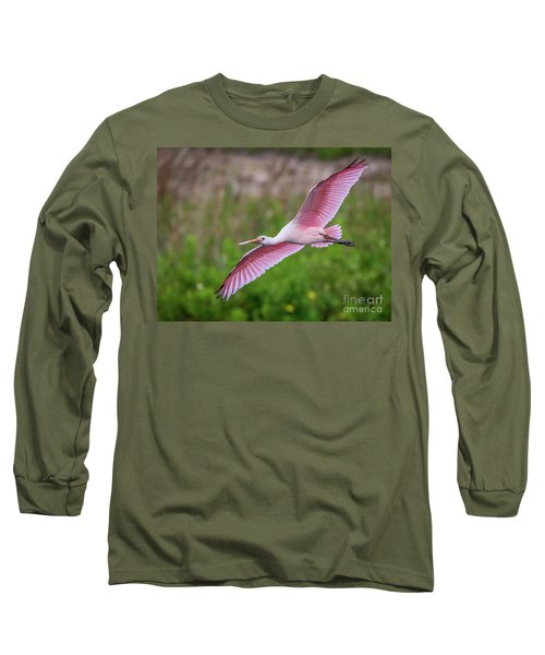 Gliding Spoonbill Long Sleeve T-Shirt
