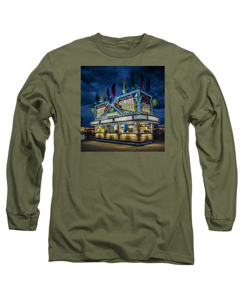 Glittering Concession Stand At The Colorado State Fair In Pueblo In Colorado Long Sleeve T-Shirt
