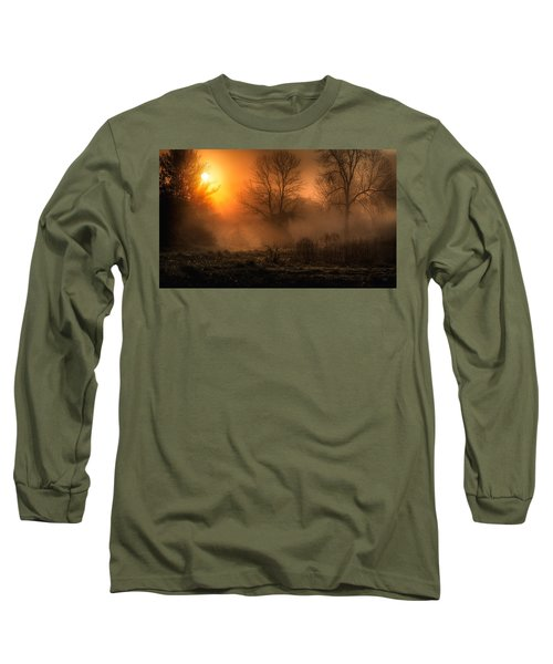 Glowing Sunrise Long Sleeve T-Shirt by Everet Regal