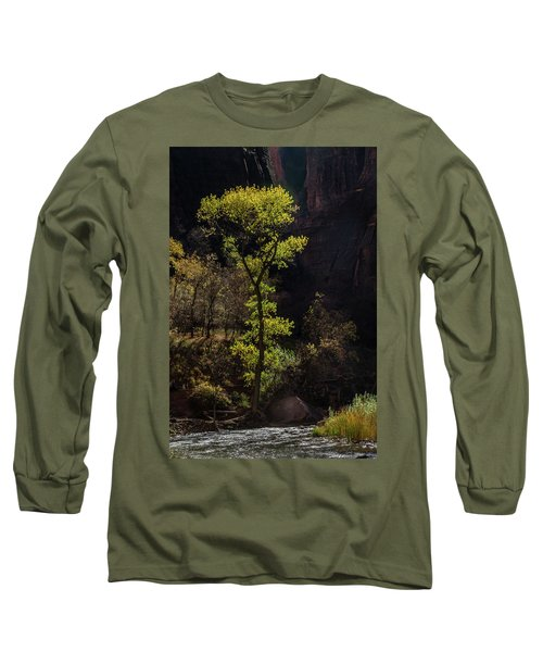 Glowing Tree At Zion Long Sleeve T-Shirt