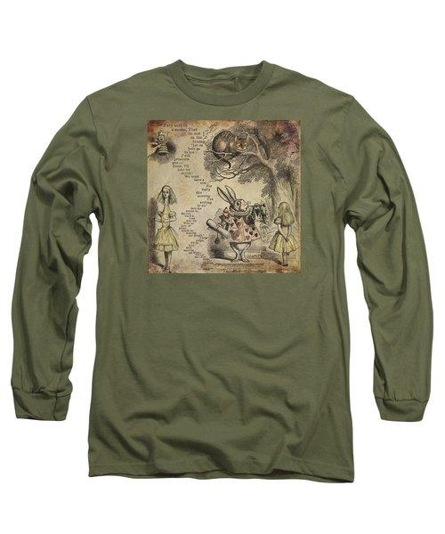Go Ask Alice Long Sleeve T-Shirt by Diana Boyd