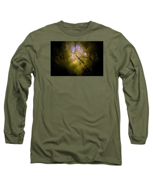 God Answers Long Sleeve T-Shirt by The Art Of Marilyn Ridoutt-Greene