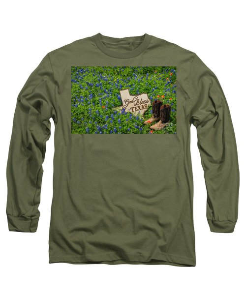 God Bless Texas II Long Sleeve T-Shirt by John Roberts