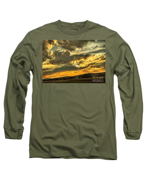 God Hand Long Sleeve T-Shirt by MaryLee Parker