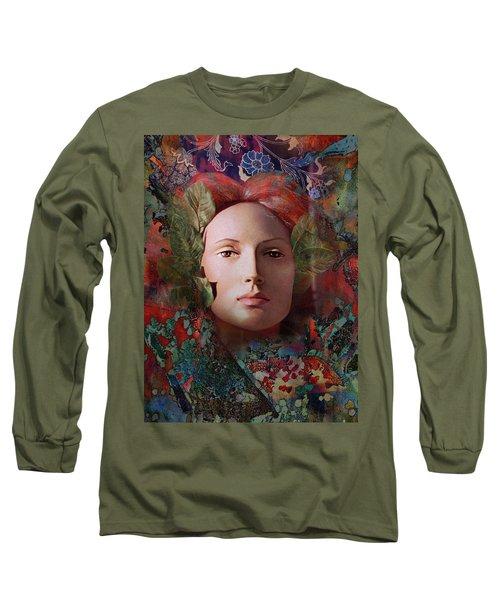 goddess art photography - Fire Queen Long Sleeve T-Shirt