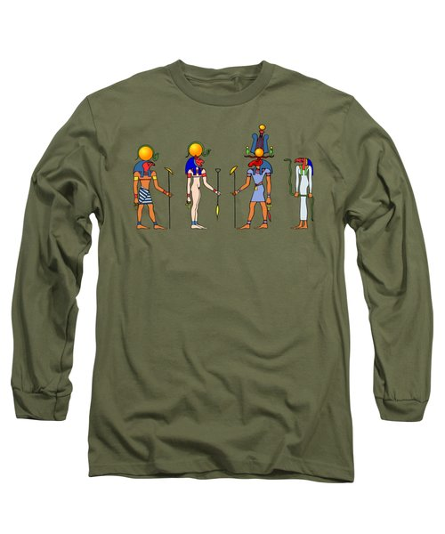 Gods And Goddess Of Ancient Egypt Long Sleeve T-Shirt