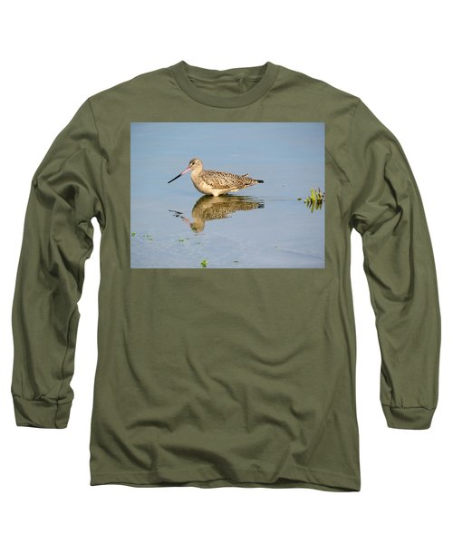 Long Sleeve T-Shirt featuring the photograph  Godwit by Phyllis Beiser