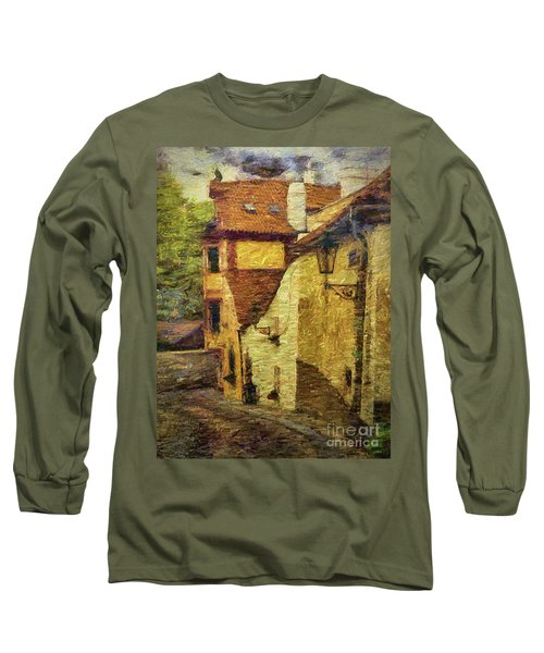 Long Sleeve T-Shirt featuring the photograph Going Downhill And Round The Bend by Leigh Kemp
