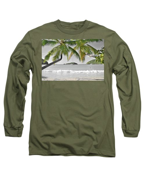 Long Sleeve T-Shirt featuring the photograph Going Green To Save Paradise by Frozen in Time Fine Art Photography