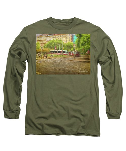 Long Sleeve T-Shirt featuring the photograph Going Slowly Round The Bend by Leigh Kemp