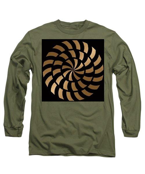 Gold And Black Ny Design Long Sleeve T-Shirt