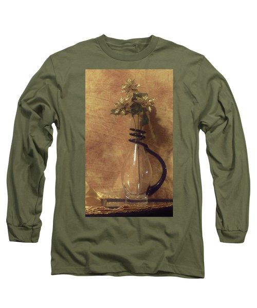 Gold Flower Vase Long Sleeve T-Shirt