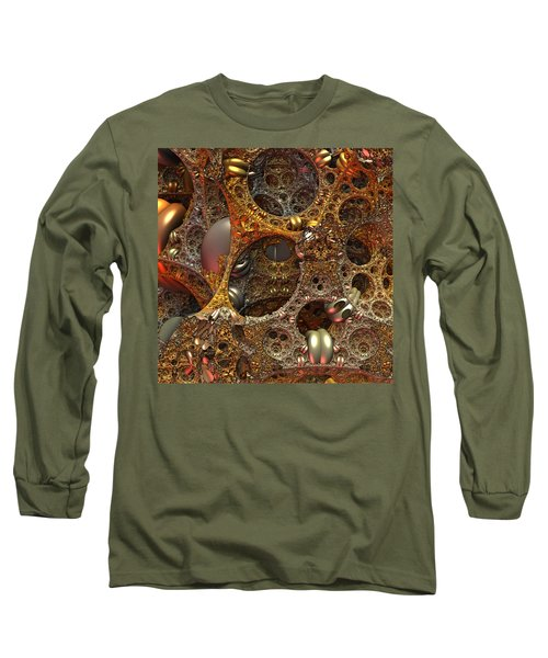 Long Sleeve T-Shirt featuring the digital art Gold Mine by Lyle Hatch