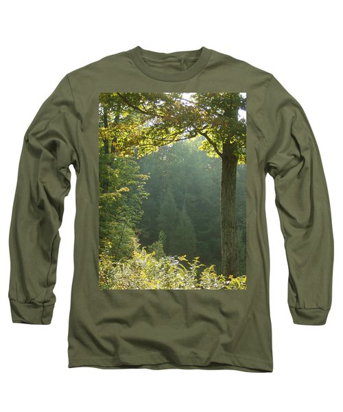 Gold On Green Long Sleeve T-Shirt