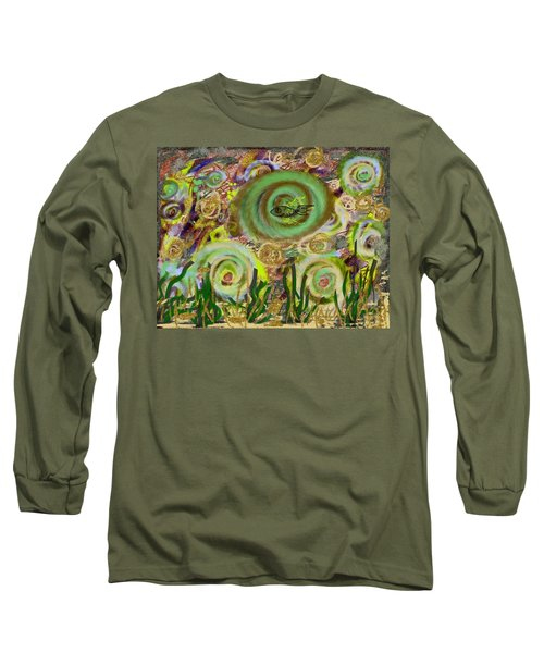 Gold Sand With Fish Illuminated Long Sleeve T-Shirt