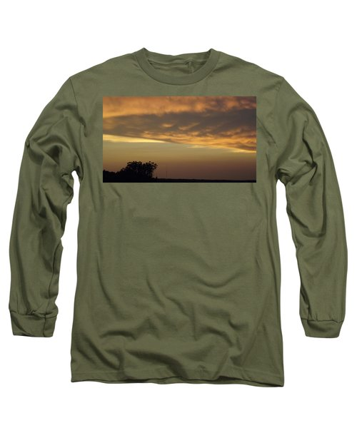 Gold Sky Over Lake Of The Ozarks Long Sleeve T-Shirt by Don Koester