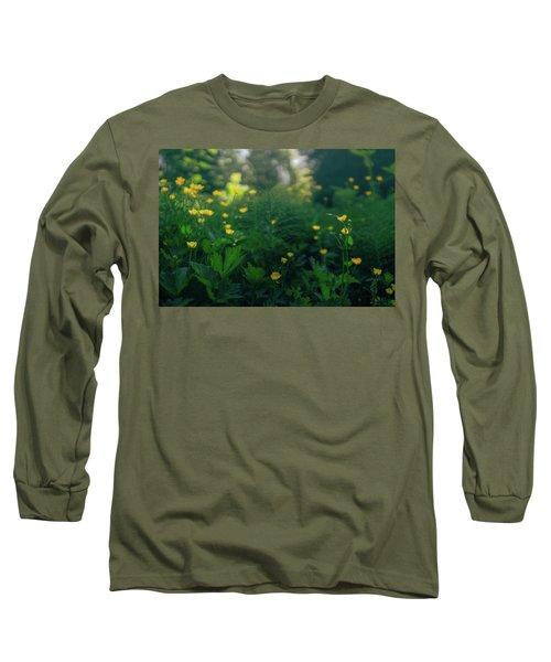 Golden Blooms Long Sleeve T-Shirt