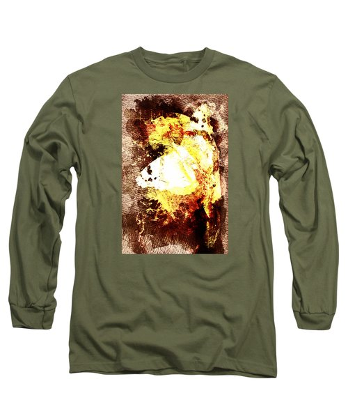 Long Sleeve T-Shirt featuring the digital art Golden Butterfly by Andrea Barbieri