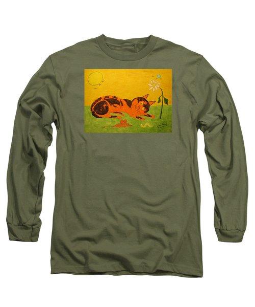 Golden Cat Reclining Long Sleeve T-Shirt