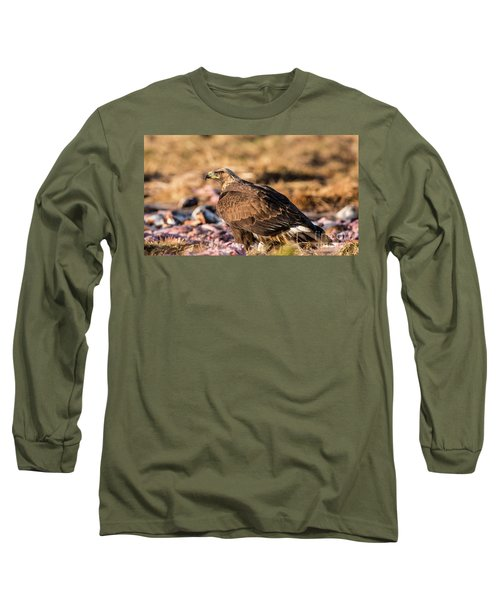 Golden Eagle's Back Long Sleeve T-Shirt by Torbjorn Swenelius
