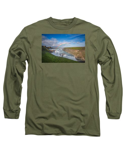 Golden Falls, Gullfoss Iceland Long Sleeve T-Shirt