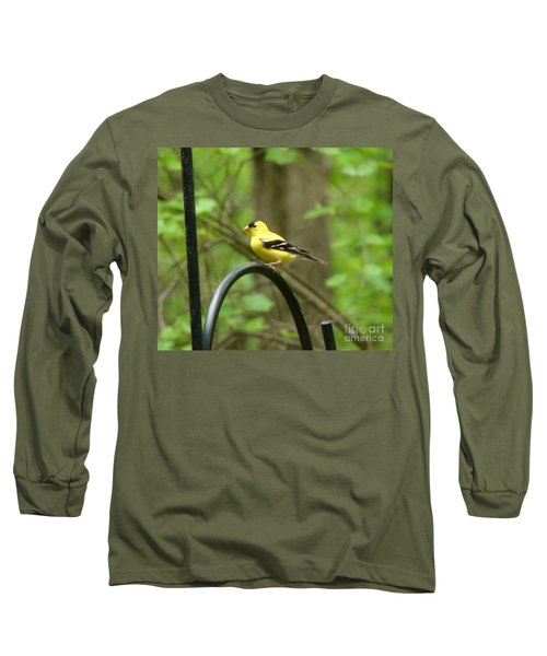 Long Sleeve T-Shirt featuring the photograph Golden Finch by Rand Herron