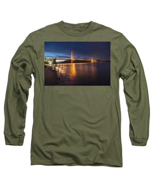 Golden Gate Blue Hour Long Sleeve T-Shirt by John McGraw