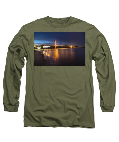 Golden Gate Blue Hour Long Sleeve T-Shirt