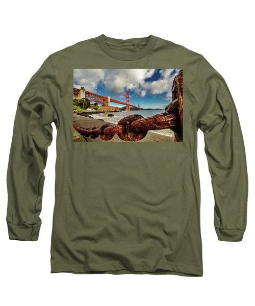 Long Sleeve T-Shirt featuring the photograph Golden Gate Bridge And Ft Point by Bill Gallagher
