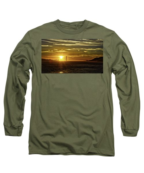 Long Sleeve T-Shirt featuring the photograph Golden Gate Sunset by Chris Cousins