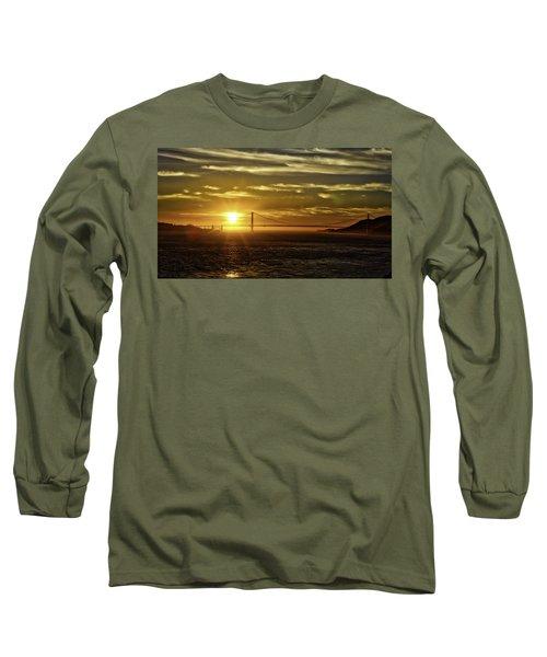 Golden Gate Sunset Long Sleeve T-Shirt