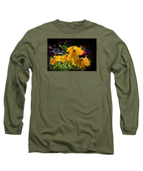 Golden Glow Long Sleeve T-Shirt by Milena Ilieva