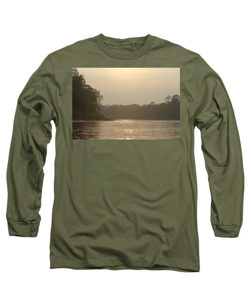 Golden Haze Covering The Amazon River Long Sleeve T-Shirt