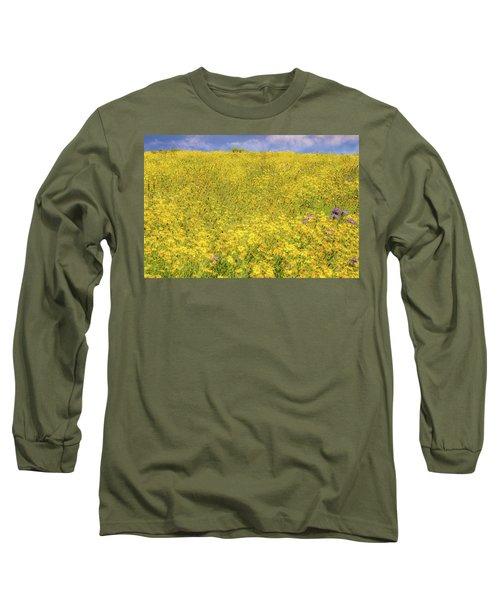 Long Sleeve T-Shirt featuring the photograph Golden Hillside by Marc Crumpler