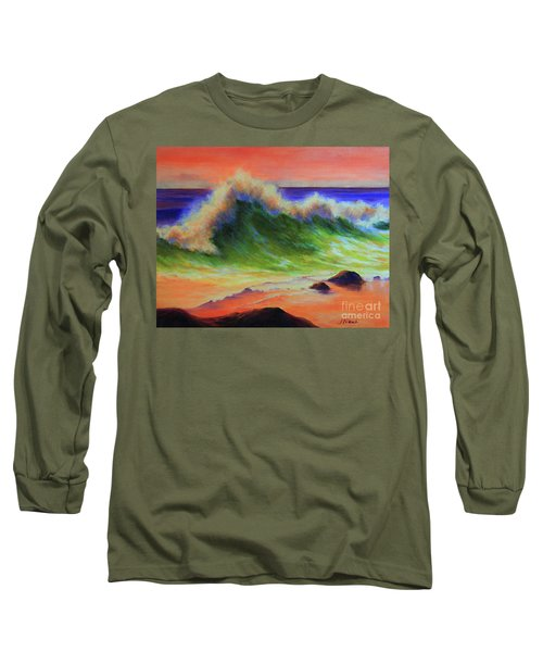 Golden Hour Sea Long Sleeve T-Shirt by Jeanette French