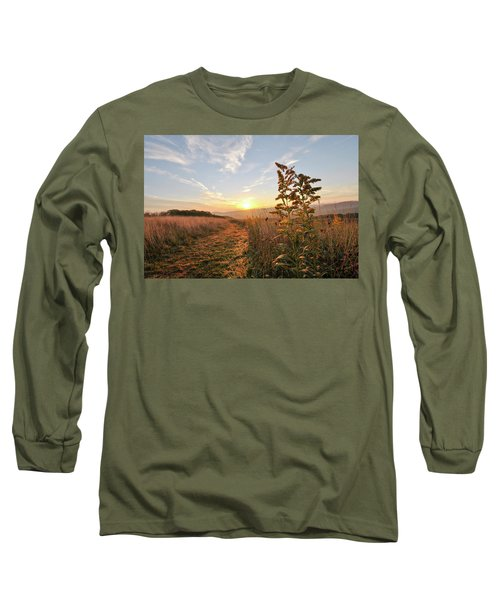 Golden Landscape Long Sleeve T-Shirt