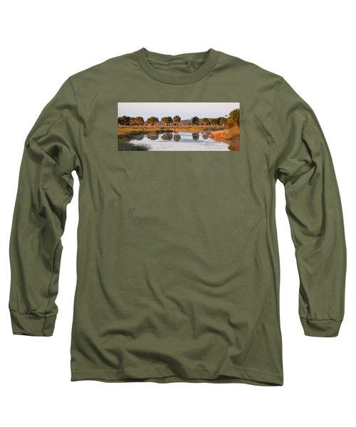 Golden Light On The St. Marks Marshes Long Sleeve T-Shirt