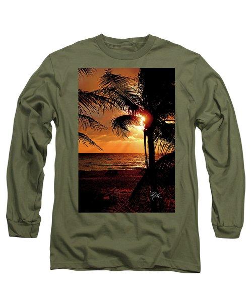 Golden Palm Sunrise Long Sleeve T-Shirt