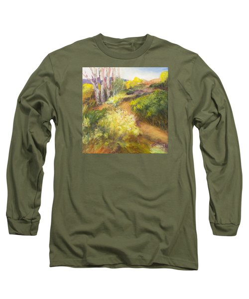 Golden Pathway Long Sleeve T-Shirt by Glory Wood