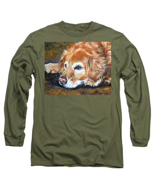Golden Retriever Senior Long Sleeve T-Shirt by Lee Ann Shepard