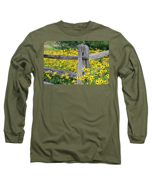 Golden-rod  Crowd Out Long Sleeve T-Shirt